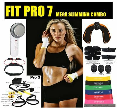 Fit Pro7 Women Ultrasound+Butt Arms Abs Ems&Bands+Suspension Training Combo