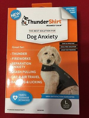 THUNDERSHIRT FOR DOG ANXIETY GRAY SIZE LARGE 41-64 lbs NIB!  GREAT GIFT