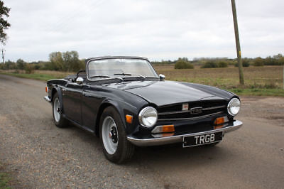 Triumph Tr6 1970 Royal Blue/ Black Interior. Original Uk 150 Bhp With Overdrive