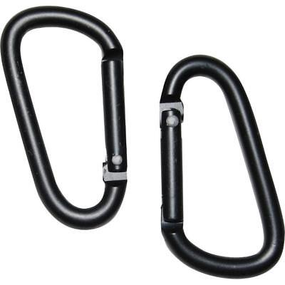 2 x CARABINER SPRING CLIP Small Snap Clasp Hook 5MM KARABINER CARBINE KEY RING