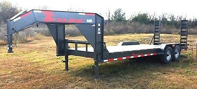 2017 Texline Stealth B-22 Type 88-22 Goose Neck New Equipment Flat Bed Trailer