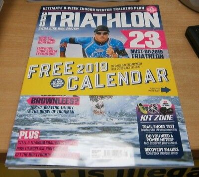 220 Triathlon magazine Jan 2019:  Must-do triathlon challenges & more + Calendar