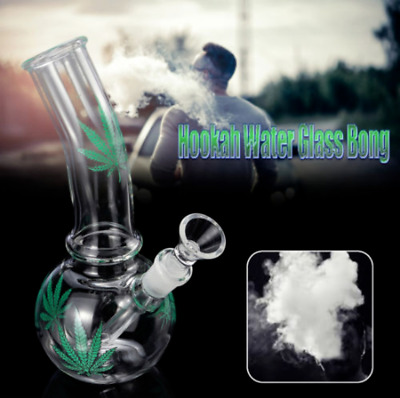 Maple Water Hookah Glass Bong Smoking Pipes Glassware Shisha Tobacco Bowl Holder