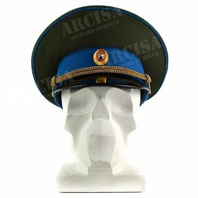 Soviet Russian military vintage Hat Soviet army officer peaked cap blue w badge