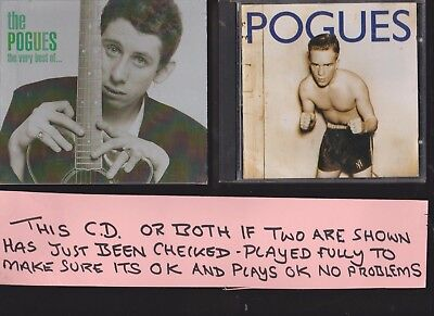 The Pogues The Very Best of and Peace and Love  TWO CD Albums
