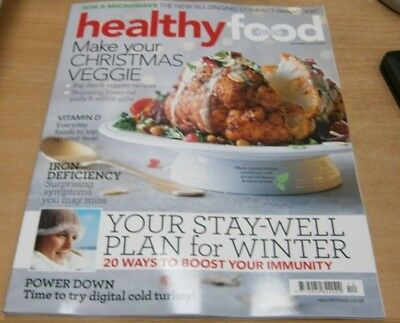 Healthy Food Guide magazine Dec 2018 Veggie Christmas +Stay-Well plan for Winter