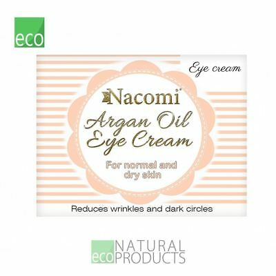 Nacomi Natural Argan Oil Eye Cream with Grape Seed Oil 15ml