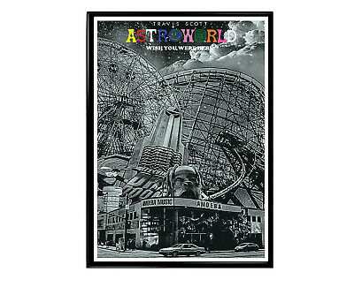 81dc4af1ce9a Travis Scott Astroworld Gray Poster, Hypebeast Music Poster Print, Pop  Culture,