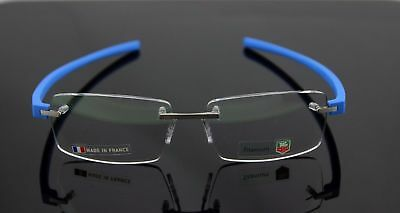 TAG HEUER Reflex 3942 010 Blue Rimless Authentic New Eyeglasses Size 60-15-140