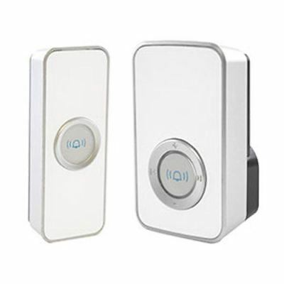 Lloytron Plug-in Wireless Doorbell White 32 Melody Door Bell Chime White