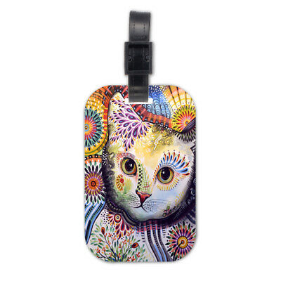 Fantasy Cat Kitten Wood Travel Luggage Tag Bag Tags Accessories