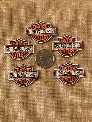 "5 Harley Davidson 1.5"" Iron On Embroidered Patches."