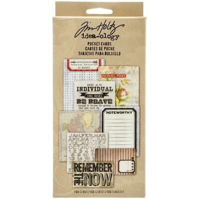 Tim Holtz Idea-Ology - Pocket Cards - 100 Pieces