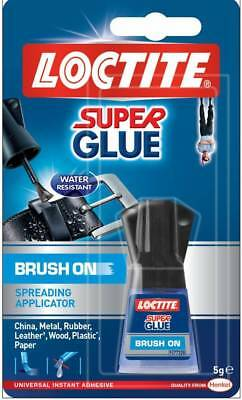 SUPERGLUE Loctite Super Glue 5g Bottle with Easy Brush On Spreadable Applicator