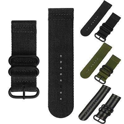 Nylon Watchband Strap 26mm Strap Stainless Steel Buckle Canvas Replacement