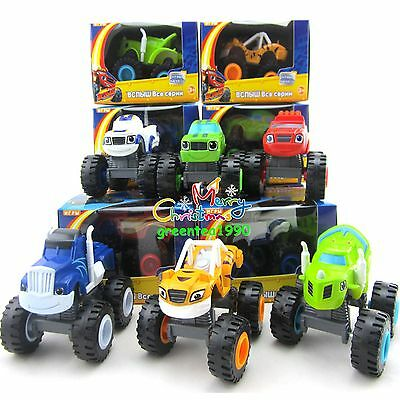 Racer Cars Trucks Blaze and the Monster Machines Kid Vehicles Diecast Toys