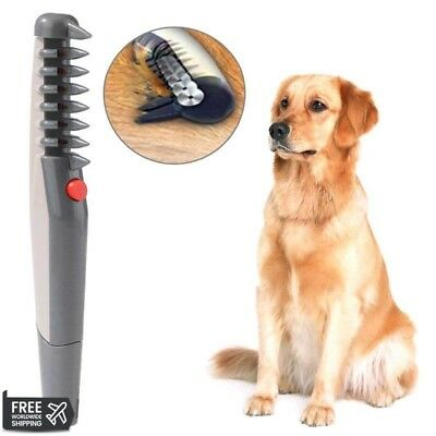 Electric Dog Hair Grooming Comb Shaver Cat Trimmer Knot Animals Brush Removal