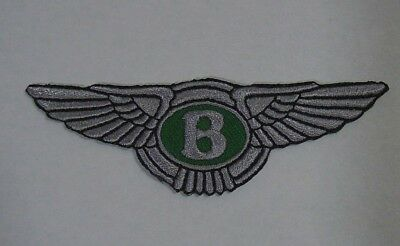 """BENTLEY Iron-On Embroidered British Automotive Car Patch 3.5"""""""