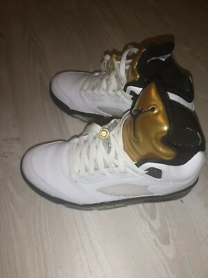 d63e7f12eebc1 Nike air Jordan 5 Retro Olympic White Gold coin Size 7 brand new in box