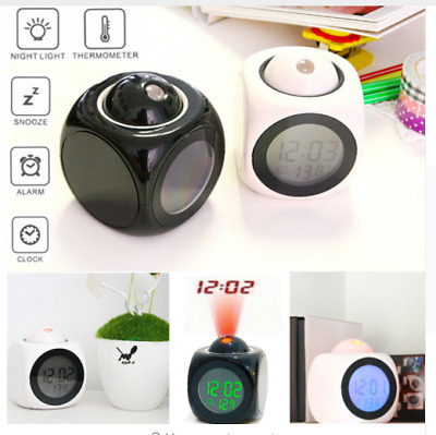 Home Gadget  For Multi-function Projection Alarm Clock  LCD Voice Talking Gift