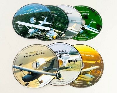 Sporty's Complete Pilot Course 7 DVDs Aviation Flying Instruction Lessons