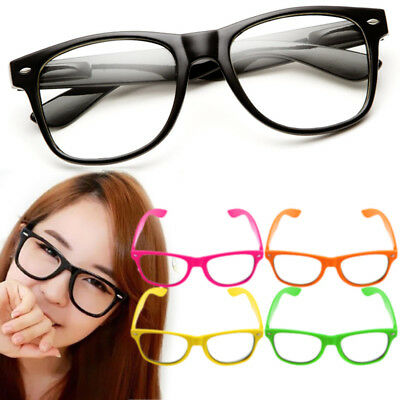 Fashion Cool Unisex Clear Lens Nerd Geek Glasses Eyewear For Men Womens Vintage