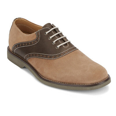 G.H. Bass & Co. Mens Parker Genuine Leather Classic Saddle Lace-up Oxford Shoe