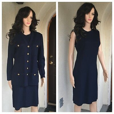 St John Collection By Marie Gray Suit Color Blue