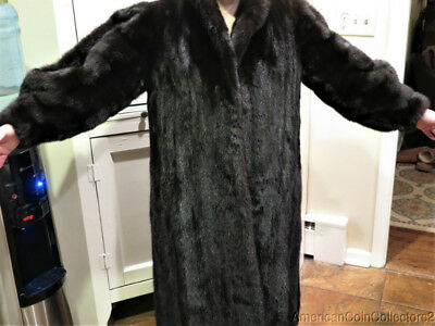 Iconic YSL Yves Saint Laurent Ranch Mink Full-Length Fur Coat  LooK | 9474