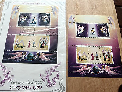 Christmas Island 1980 Christmas mini sheet MNH + FDC