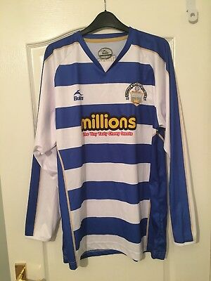 Greenock Morton Home Shirt 2009-10 Bukta Long Sleeved Large