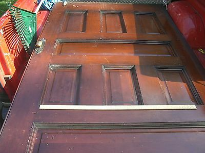 Antique Pocket door  with  beautiful brass  door knobs Architectural  Salvage