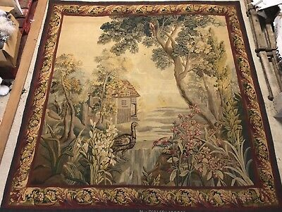 antique Aubusson tapestry end of 18th century