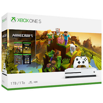 Microsoft XBOX ONE S 1TB  Minecraft Creators Limited Edition Bundle BRAND NEW