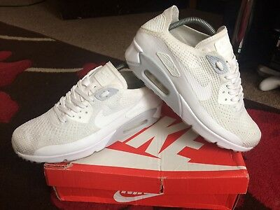 NIKE AIR MAX 90 Ultra 2.0 Flyknit size 7.5 White Pure