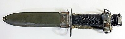BOC M7 US Military Vietnam Fighting Knife USMC Army with US M8 Scabbard B.M. Co.