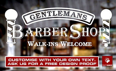 Custom Barber Shop Window Sign Business Barbershop Decal Sticker Hair Dresser