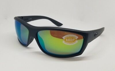 a37c8b3799a7 New Costa Del Mar Sunglasses Saltbreak Black Frame/green Mirror Polarized  Lenses