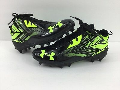 Under Armour Mens UA Ripshot Mid MC Lacrosse/Football Cleats FREE FAST SHIP