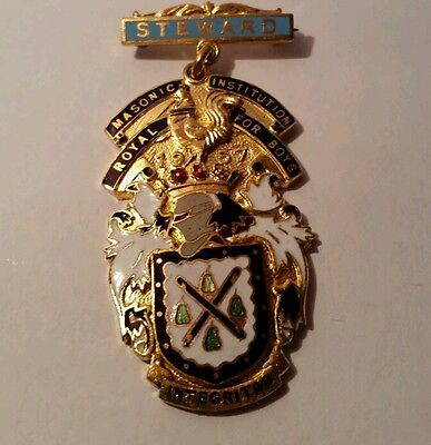 STEWARD Masonic  Royal Institution or Boys INTEGRITAG