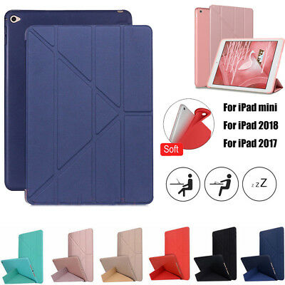 """For 6th Generation iPad 2018 9.7"""" Magnetic Stand Flip PU Soft Smart Case-Cover"""