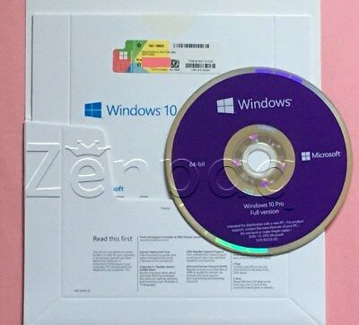 ****Microsoft Windows 10 PRO PROFESSIONAL 64Bit OEM FULL VERSION & Laptop