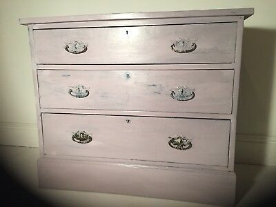Antique Edwardian /Victorian Boudoir Chest Of Drawers