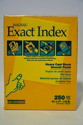 Paper 250 count Heavy Card Stock Wausau Exact Index Smooth Finish 110 lb. Gold