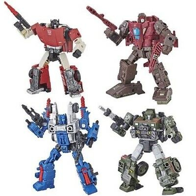 HOUND COG SIDESWIPE SKYTREAD Transformers SIEGE WAR FOR CYBERTRON Deluxe Class