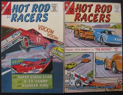 Hot Rod Racers # 5 15 (Lot Of 2) Charlton - Jack Keller