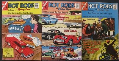 HOT RODS and RACING CARS # 69 74 76 (LOT OF 3) CHARLTON - JACK KELLER