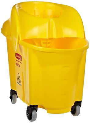 New Rubbermaid 7590-88 WaveBrake Mop Bucket with Down Press Wringer