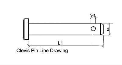 Clevis Pins choice of 21 carbon steel zinc plated, use drop down box for size
