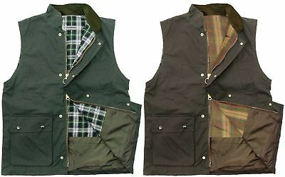 Mens Wax Quilted Gilet Bodywarmer | Waistcoat | Hunting | Outdoor | Shooting